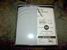 """Rest Retreat 900 Thread Count Soft 15"""" Deep Pocket Light Gray Queen Sheet Set"""