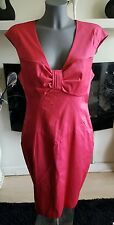BNWT TED BAKER rose pink pencil dress with bow detail size 14 (4) RRP£119