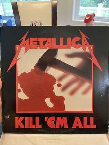 Metallica Kill 'Em All MRI 069 Megaforce Silver Label Original Pressing 2nd Var