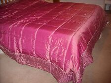 NEW BEAUTIFUL DEBENHAMS  QUILTED BED THROW OVER ( SENSUAL)