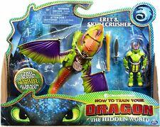 Dreamworks Dragons ERET & SKULLCRUSHER with Armored Viking Toy Figure Playset