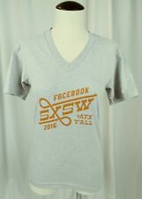 Facebook American Apparel Size XS Women's SXSW 2016 V Neck T Shirt Tee