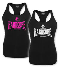 "DAMEN TANK TOP ""HARDCORE GABBER GERMANY"" GIRLIE GABBA TECHNO GABBER HAKKE  NEU"