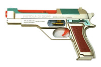 1 NEW BATTERY OPERATED PISTOL HANDGUN ACTION NRA WITH LIGHTS AND SOUND FREE SHIP