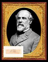 """Confederate Brigadier Genl Benjamin Hardin Helm photo//Autograph COPY 8-1//2 X 11/"""""""