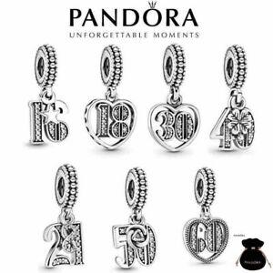 2021 New Genuine Pandora Years of Love Anniversary Birthday Pendant Dangle Charm