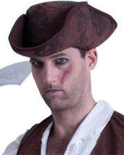 Brown Caribbean Pirate Hat One Size