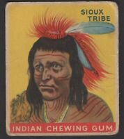 1947 Goudey Indian Gum Trading Card #12 Chief of the Sioux Tribe