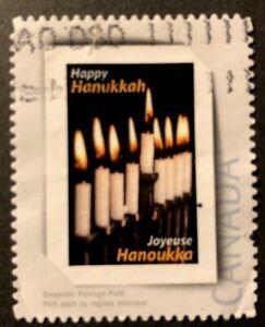 CANADA 2011 # PP6 PICTURE POSTAGE - HANUKKAH - 'MENORAH' USED STAMP