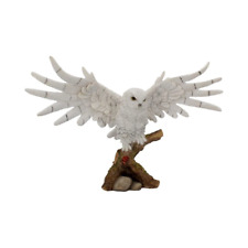 More details for snowy rest 38cm owl figurine