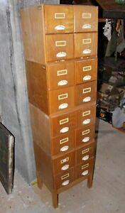 DDR Utensilo Aktenschrank Karteikarten 16 Schubladen Schrank Bauhaus H=190cm