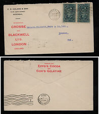 Canada  97(2)  on  nice ad cover   1908           MS0915
