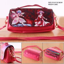 Touhou Project Remilia Scarlet Leather Purse Handbag Clutch Messenger Bag Makeup
