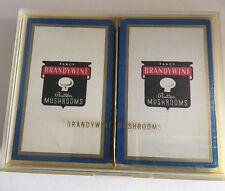 Vintage Brandy wine Button Mushrooms Playing Cards 2 Decks New Lucite Case