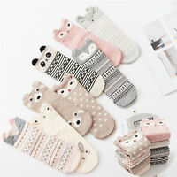 Women Cute 3D Cartoon Animal Zoo Socks Girls Cotton Warm Soft Sox Ankle Socks