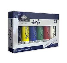 ROYAL & Langnickel artista acrilico vernice Set di 6 x 120 ml tubi di colore + tavolozza