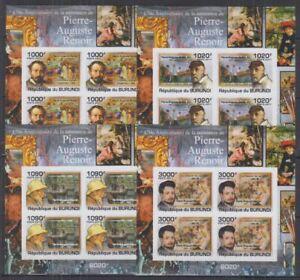 Z458. Burundi - MNH - Art - Paintings - Renoir - Imperf
