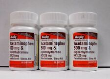 Rugby Acetaminophen 500mg/Diphenhydramine 25mg 50ct -3 Pk -Compare to Tylenol PM