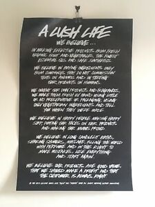 Lush Cosmetics UK Large Exclusive Very Rare Mission Statement Poster Bundle New