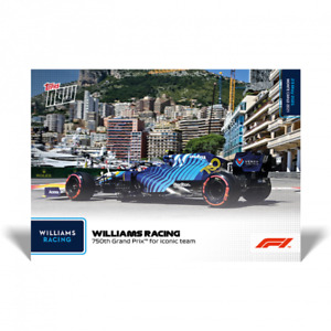 F1 TOPPS NOW WILLIAMS RACING 750TH GRAND PRIX FOR ICONIC TEAM #14 GEORGE RUSSELL