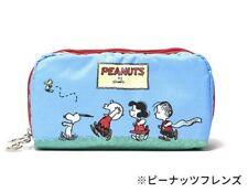 Lesportsac Japan Limited Peanuts Snoopy Friends Makeup Rectangular Cosmetic Bag