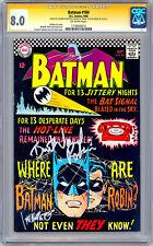 BATMAN #184 CGC-SS 8.0 SIGND BURT WARD aka 1960'S ROBIN & CARMINE INFANTINO 1966