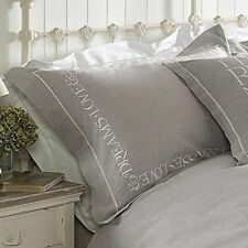 Emma Bridgewater Embroidered Natural 200tc 100 Cotton Oxford Pillowcase