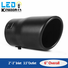 "Car Exhaust Tip Muffler Pipe Black Coating Stainless Steel Fit 2""-3"" Inlet pipe"