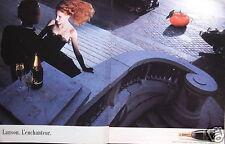 PUBLICITÉ 1987 CHAMPAGNE LANSON L'ENCHANTEUR A REIMS - ADVERTISING