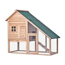 ALEKO Wooden Pet House Rabbits Chickens Hen Coop Wooden Cage