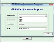 Reset Epson L382, L386, L486 with Serial Generator