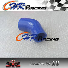 """45° degree Elbow Silicone Hose ID2.5"""" to 3"""" Intake Turbo Intercooler Pipe BLUE"""