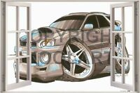 Huge 3D Koolart Window view Subaru Impreza Estate Wagon Wall Sticker Poster 1626