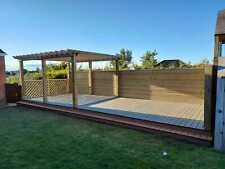 Governor Wooden Pergola, 4.5m x 3.5m treated timber, garden, summer -15ft x 12ft