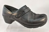 Dansko Professional Nursing Comfort Leather Slip On Clogs Black Us Size 7 EU 37
