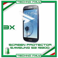 3X PELLICOLA PROTEGGISCHERMO SCREEN PROTECTOR SAMSUNG S3 i9300