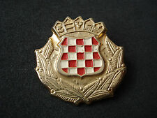 Croatia Army, early model badge, insignia; military, Homeland war, wartime