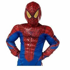 Disney Store Deluxe Spiderman Halloween Costume Boys Size 8 Child's Muscles New
