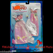 TYCO DISNEY LITTLE MERMAID ARIEL DRESS 'N FIN FASHIONS SPARKLE SILVER PINK *MIP