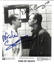 """NICOLAS CAGE & DAVID CARUSO FROM THE FILM """"KISS OF DEATH"""" PUBLICITY PHOTO W/COA"""