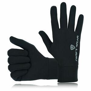 Running gloves Men light weight Reflective Black Liner Touchscreen Thermal Sizes