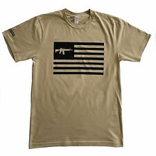 Never Surrender™ T-Shirts AR15 Flag, 100% MADE IN THE USA