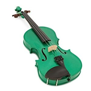 Harlequin Violin Outfit Green 3/4 Size with Lightweight Case 1401CGR
