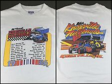 Vintage Mens Size L 1986 Sprint Car Racing Knoxville Nationals Graphic T-Shirt