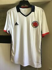 Adidas Colombia National Soccer Team Home Jersey 2016 White Large NWT