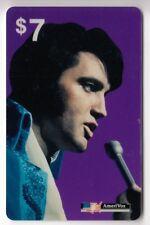 AMERIQUE  TELECARTE / PHONECARD .. USA 7$ AMERIVOX ELVIS PRESLEY TEST 93 NEUVE
