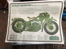 HARLEY-DAVIDSON FLATHEAD 45 MILITARY POSTER BEEN HANGING ON THE WALL 30 YEARS