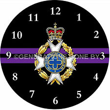 ROYAL ARMY CHAPLAINS DEPARTMENT GLASS WALL CLOCK