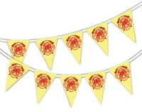 Happy Birthday Firefighter - Bunting Banner 15 flags for Unique Celebration