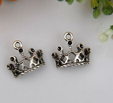 50pcs zinc alloy crown charms 12x13mm 1A651